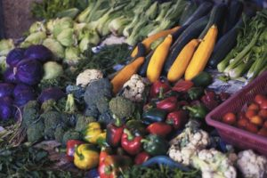 image of lots of vegetables healthy eating helps getting pregnant